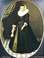 Oval Portrait of a Lady - Pieter the Elder Neefs