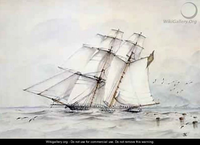 The Slaver Esmeralda captured on 1 November 1864 off Loango - C.G. Nelson
