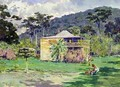 Vailima 1892 home of Robert Louis Stevenson on Samoa - Count Girolamo Pieri Nerli
