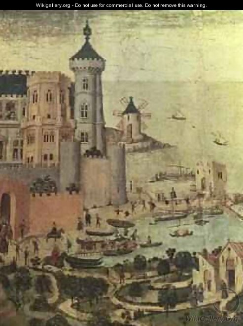 The Port of Majorca with the Almudaine Towers during the Conquest of the City by James I - Pedro Nisart