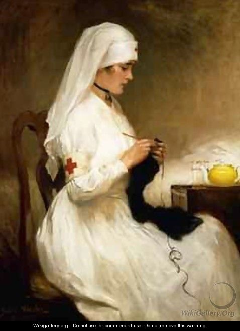 Portrait of a Nurse from the Red Cross - Gabriel Emile Niscolet