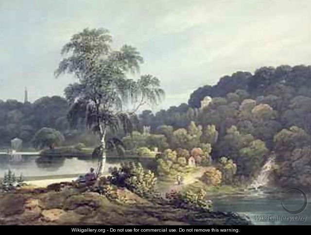 View of Stourhead Wiltshire late 18th century - Francis Nicholson