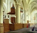 Views of the north and south aisles of the church of St Bavo Haarlem - Isaak Nickelen