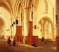 Views of the north and south aisles of the church of StBavo Haarlem - Isaak Nickelen