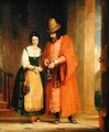 Shylock and Jessica from The Merchant of Venice - Gilbert Stuart Newton