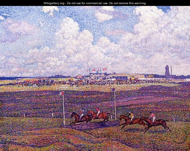 The Race Track at Boulogne-sur-Mer - Theo Van Rysselberghe