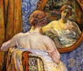 Woman in a Mirror - Theo Van Rysselberghe