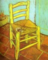 Vincent's Chair with Pipe - Vincent Van Gogh