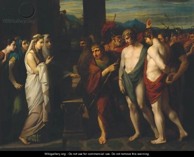 Pylades and Orestes Brought as Victims before Iphigenia - Benjamin West