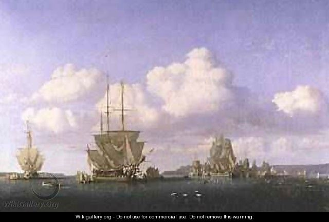 The Anchorage of Brest in Calm Weather 1844 - Jules Achille Noel