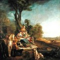 A Hunting Luncheon - Jean-Baptiste Oudry