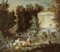 Landscape with a Round Tower, 1737 - Jean-Baptiste Oudry