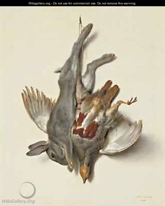 A Young Rabbit and Partridge hung by the Feet, 1751 - Jean-Baptiste Oudry
