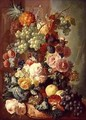 Still Life with Fruit and Flowers - Jan van Os