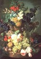 Still Life Mixed Flowers and Fruit with Birds Nest - Jan van Os