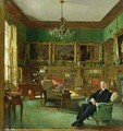 Otto Beit in his study at Belgrave Square, 1913 - Sir William Newenham Montague Orpen