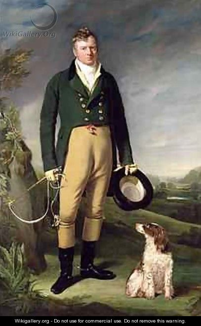 An Unknown Man With his Dog, 1815 - William Owen