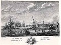Port of L Orient, view of the Quay with the Machine for Masting, engraved by Yves Marie Le Gouaz 1742-1816 - (after) Ozanne, Nicolas Marie