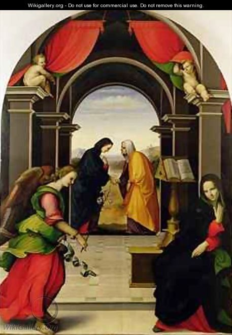 The Annunciation and the Visitation, 1518 - Girolamo Del Pacchia