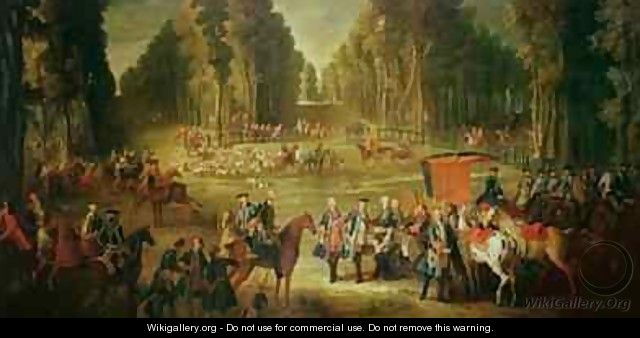 Meeting for the Puits-du-Roi Hunt at Compiegne - Jean-Baptiste Oudry