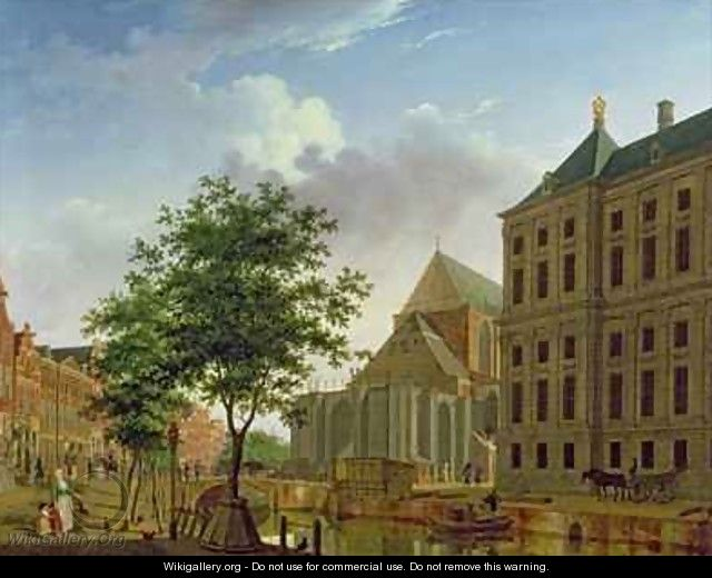 Back of New Palace and Church, Amsterdam - Isaak Ouwater