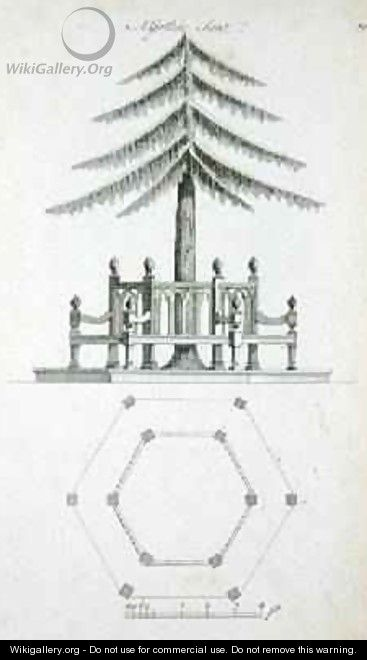 A Gothic Seat, from Ornamental Architecture in the Gothic, Chinese and Modern Taste, published 1758 - Charles Over