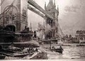 The Tower Bridge, to be Erected Over the Thames: Foundation Stone Laid by the Prince of Wales on Monday Last, from The Illustrated London News, 26th June 1886 - (after) Overend, William Heysham