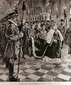 The Queen Passing through the Corridor to the House of Lords, from The Illustrated London News, 30th January 1886 - (after) Overend, William Heysham