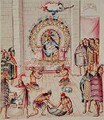 Tome 3 fol.129 Offerings to the King, from Teatro de la Nueva Espana, 1640 - Panes