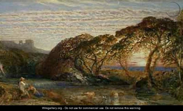 The Shadowy Stream - Samuel Palmer