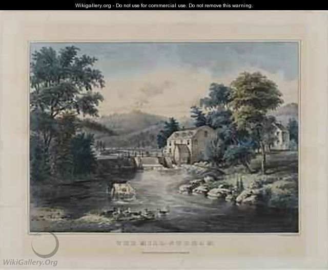 The Mill-Stream, published by Currier and Ives, New York - Frances Flora Bond (Fanny) Palmer