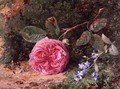 Pink Rose on a Mossy Bank, 1875 - Harry Sutton Palmer