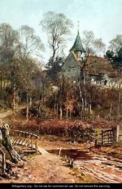 Round My House Pyrford Church, 1880-86 - Harry Sutton Palmer