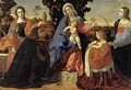 Sacred Conversation with Saints Barbara and Justina - Jacopo d'Antonio Negretti (see Palma Vecchio)
