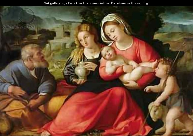 The Holy Family, c.1508-12 - Jacopo d