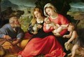 The Holy Family, c.1508-12 - Jacopo d'Antonio Negretti (see Palma Vecchio)