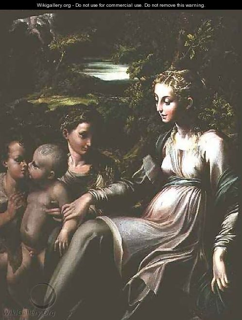 Virgin and Child, with Saints Catherine and John - Girolamo Francesco Maria Mazzola (Parmigianino)