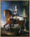 Equestrian Portrait of Louis XV 1710-74 at the age of thirteen, 1723 - J. B. Van Loo and C. Parrocel