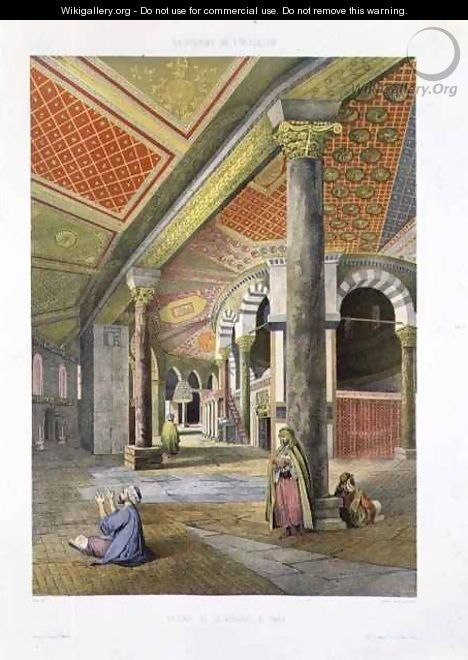The Gallery of the Mosque of Omar, from Souvenirs of Jerusalem, engraved by Charles Claude Bachelier fl.1830-60 and Albert Adam b.1833, 1861 - (after) Paris