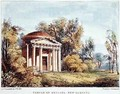 Temple of Bellona, Kew Gardens, plate 24 from Kew Gardens A Series of Twenty-Four Drawings on Stone, engraved by Charles Hullmandel 1789-1850 published 1820 - (after) Papendiek, George Ernest