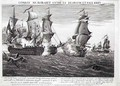 The Memorable Combat Between Captain Pearson, the Commander of The Serapis and John Paul Jones, Commander of Le Bonhomme Richard, 22nd September 1779, engraved by Balthasar Frederic Loizel - Richard Paton