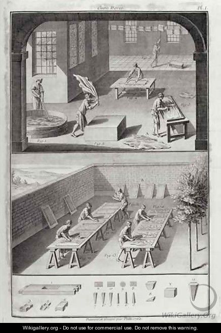 Leather tanning, from the Encyclopedia by Denis Diderot 1713-84, published c.1770 - Patte