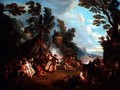 The Party in the Army Camp - Jean-Baptiste Joseph Pater