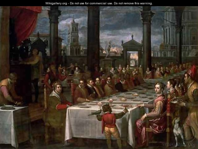 Wedding banquet of Grand Duke Ferdinand I of Tuscany 1549-1600, 1590 - Domenico Cresti (see Passignano)