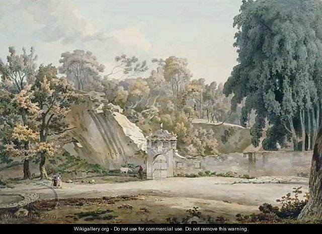 Park Gateway and Fountain - William Pars