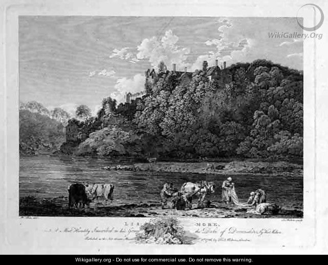 View of Lismore Castle, County Waterford, Ireland, engraved by Thomas Milton 1743-1827 1786 - William Pars