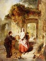 Courting at the Well, 1862 - Daniel Pasmore