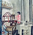 The Workshop of Silversmiths, from a silversmith book Llibre de Passenties per Argenters, 1761 - Francesco Pedraltes