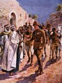 The Arab Sheikhs Hospitality to General Maude, illustration from Brave Deeds by Brave Men, by C. Sheridan Jones, pub. 1922 - Henry A. (Harry) Payne