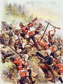 Storming the Heights, illustration from Glorious Battle of English History by Major C.H. Wylly, 1920s - Henry A. (Harry) Payne